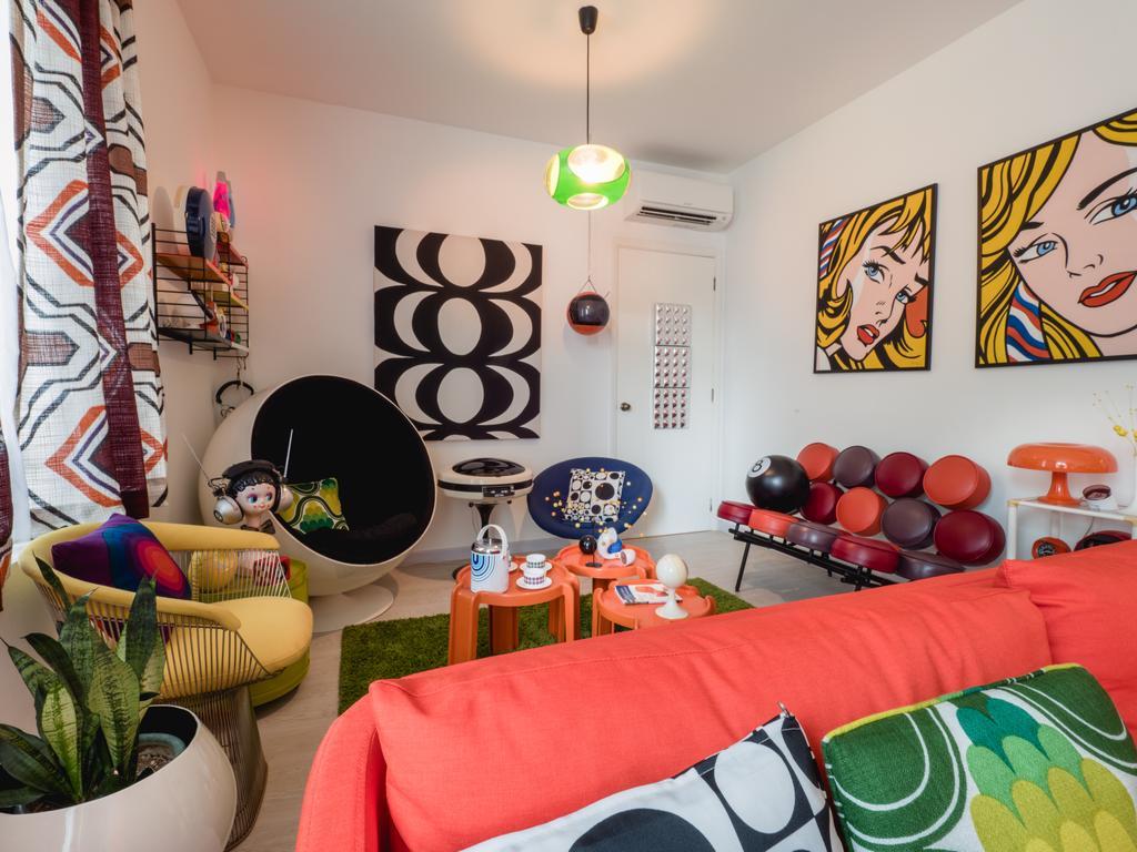 Retro, HDB, Living Room, Compass Heights, Interior Designer, The Safe Haven Interiors