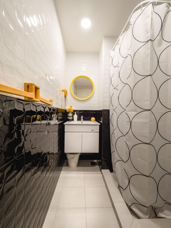 Retro, HDB, Bathroom, Compass Heights, Interior Designer, The Safe Haven Interiors