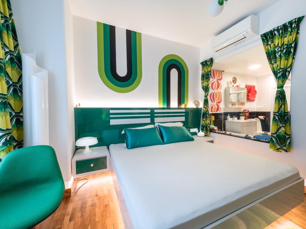 Retro, HDB, Bedroom, Compass Heights, Interior Designer, The Safe Haven Interiors