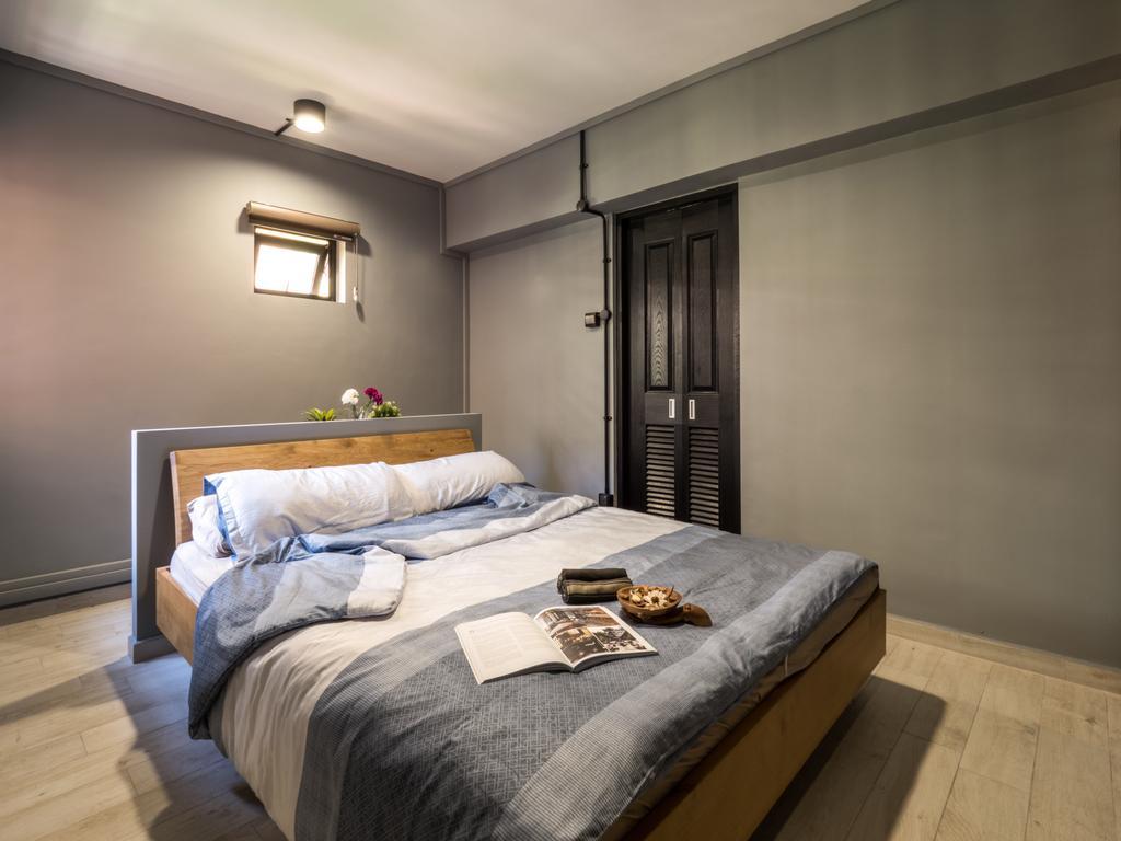 Industrial, HDB, Bedroom, Hougang Central, Interior Designer, The Safe Haven Interiors, Scandinavian