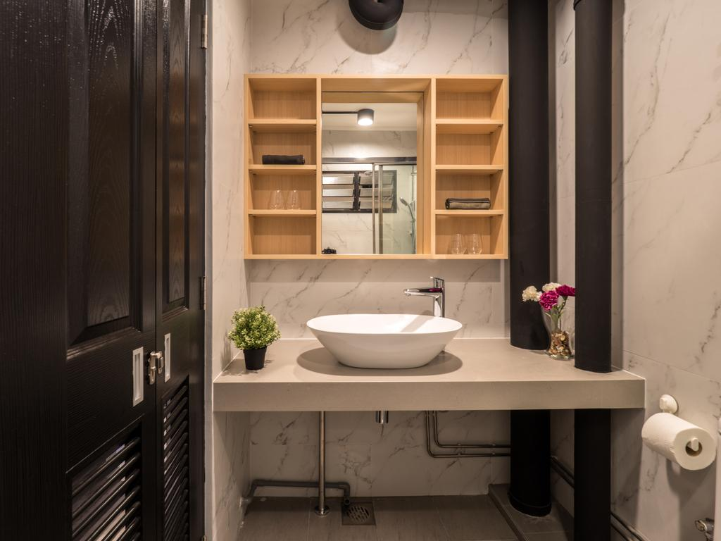 Industrial, HDB, Bathroom, Hougang Central, Interior Designer, The Safe Haven Interiors, Scandinavian