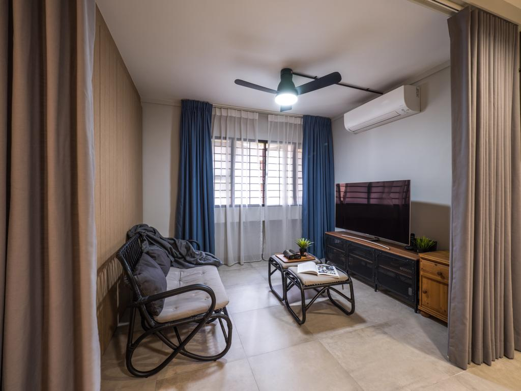 Industrial, HDB, Living Room, Hougang Central, Interior Designer, The Safe Haven Interiors, Scandinavian
