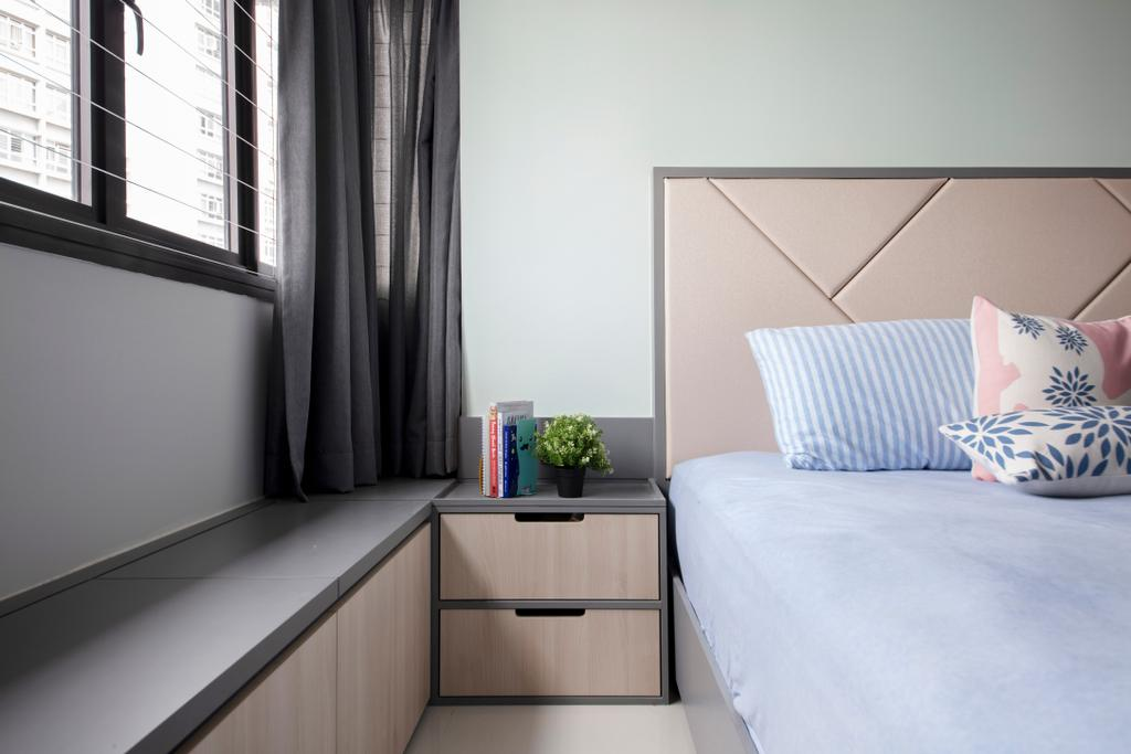 Minimalistic, HDB, Bedroom, Ghim Moh Edge, Interior Designer, The Safe Haven Interiors