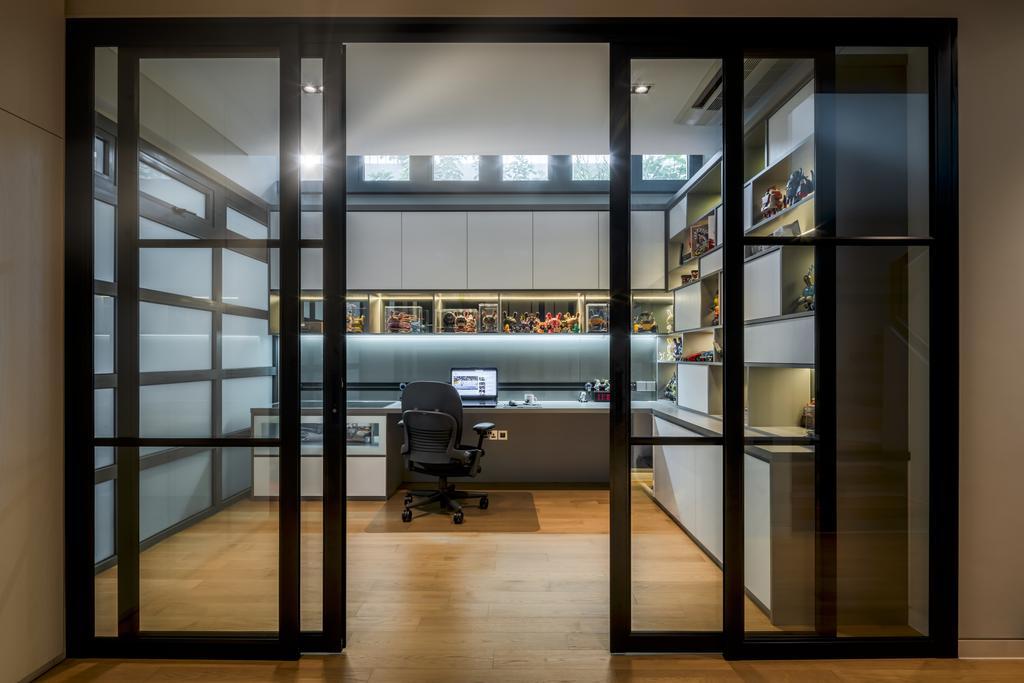 Contemporary, Landed, Study, Victoria Park Grove, Interior Designer, Weiken.com