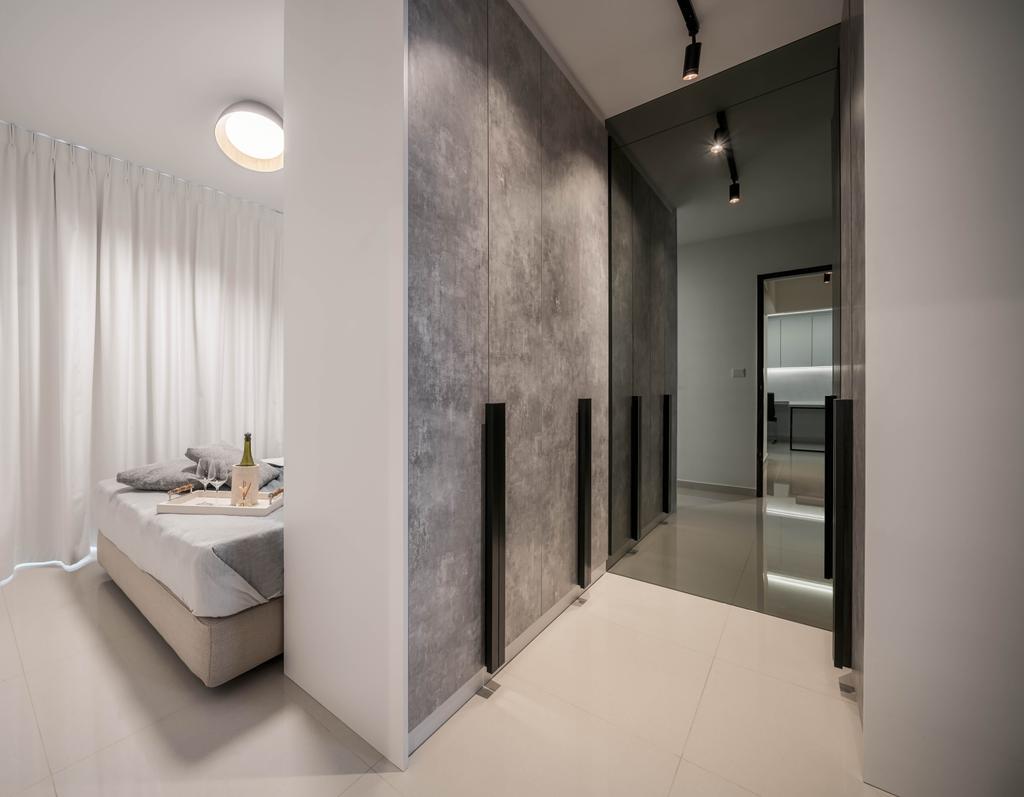 Contemporary, HDB, Bedroom, Ang Mo Kio Street 51, Interior Designer, Weiken.com, Walk In Wardrobe, Wardrobe