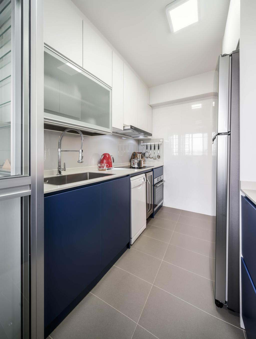 Contemporary, HDB, Kitchen, Ang Mo Kio Street 51, Interior Designer, Weiken.com