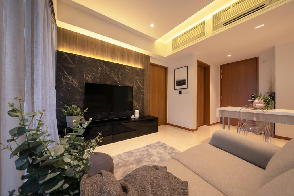 Scandinavian, Condo, Living Room, Watertown, Interior Designer, Space Atelier, Modern