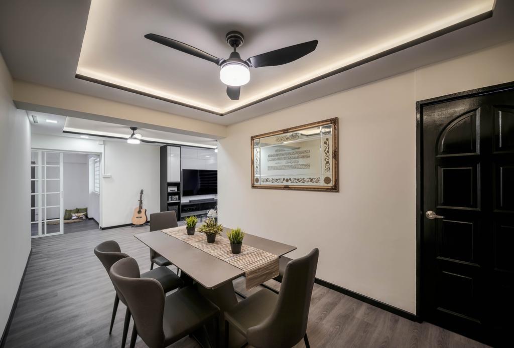 Contemporary, HDB, Dining Room, Pasir Ris Drive 6, Interior Designer, Weiken.com