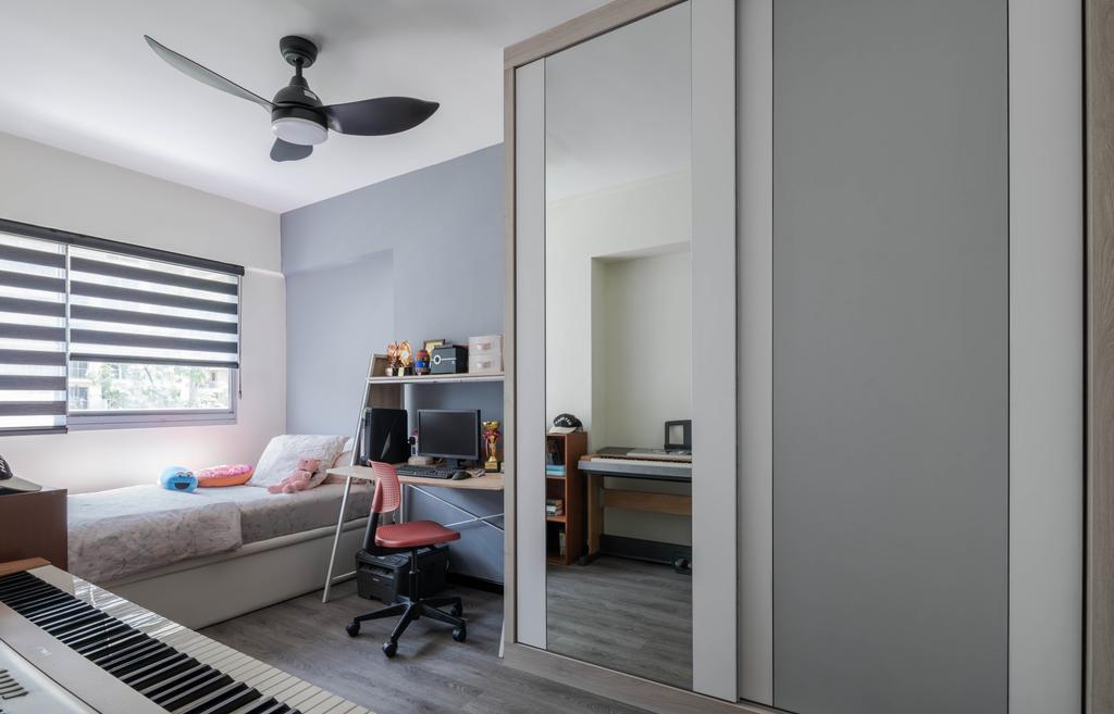 Contemporary, HDB, Bedroom, Pasir Ris Drive 6, Interior Designer, Weiken.com