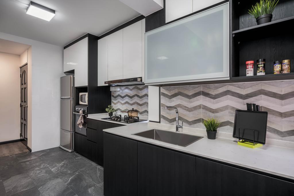 Contemporary, HDB, Kitchen, Pasir Ris Drive 6, Interior Designer, Weiken.com