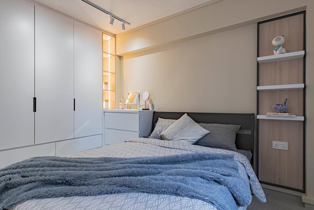 Scandinavian, HDB, Bedroom, Shunfu Road, Interior Designer, ARK-hitecture