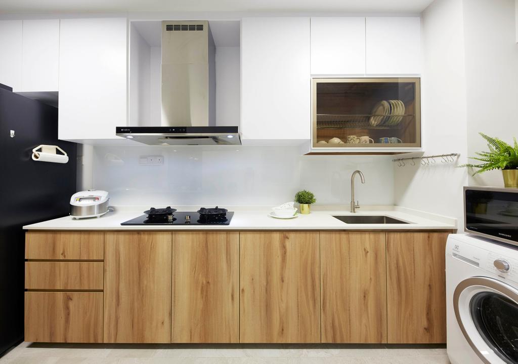 Contemporary, HDB, Kitchen, Punggol Drive, Interior Designer, i-Chapter