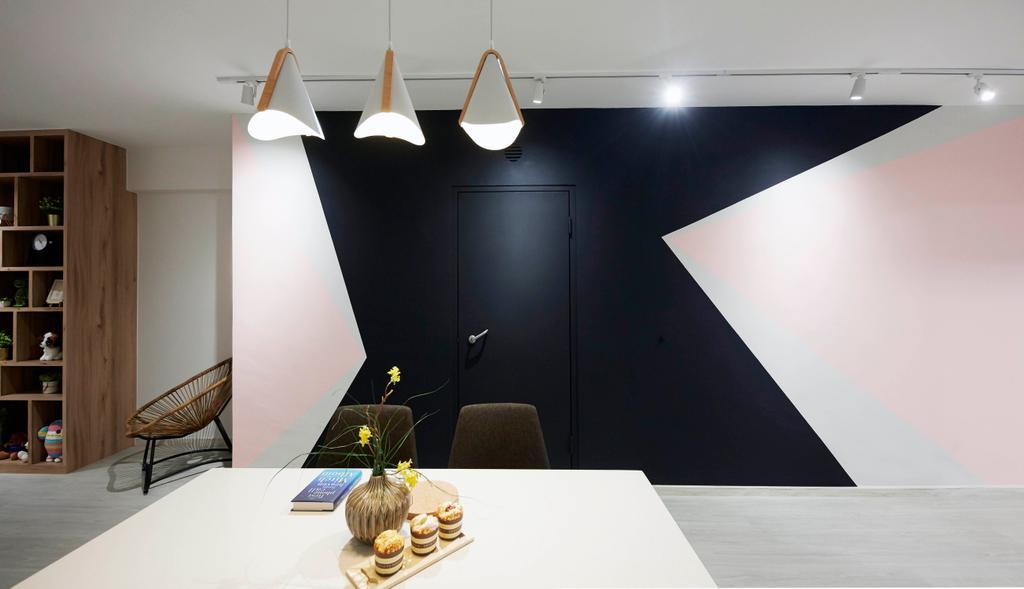 Contemporary, HDB, Dining Room, Punggol Drive, Interior Designer, i-Chapter