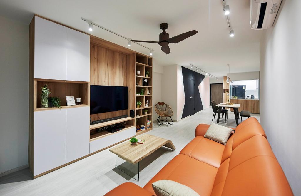 Contemporary, HDB, Living Room, Punggol Drive, Interior Designer, i-Chapter