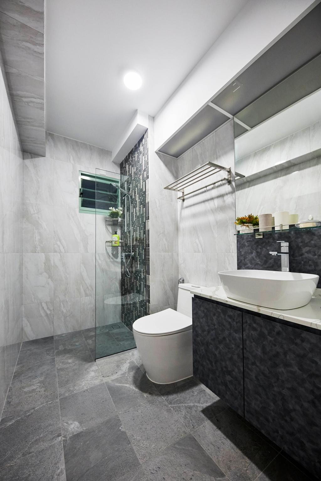 Contemporary, HDB, Bathroom, Punggol Drive, Interior Designer, i-Chapter