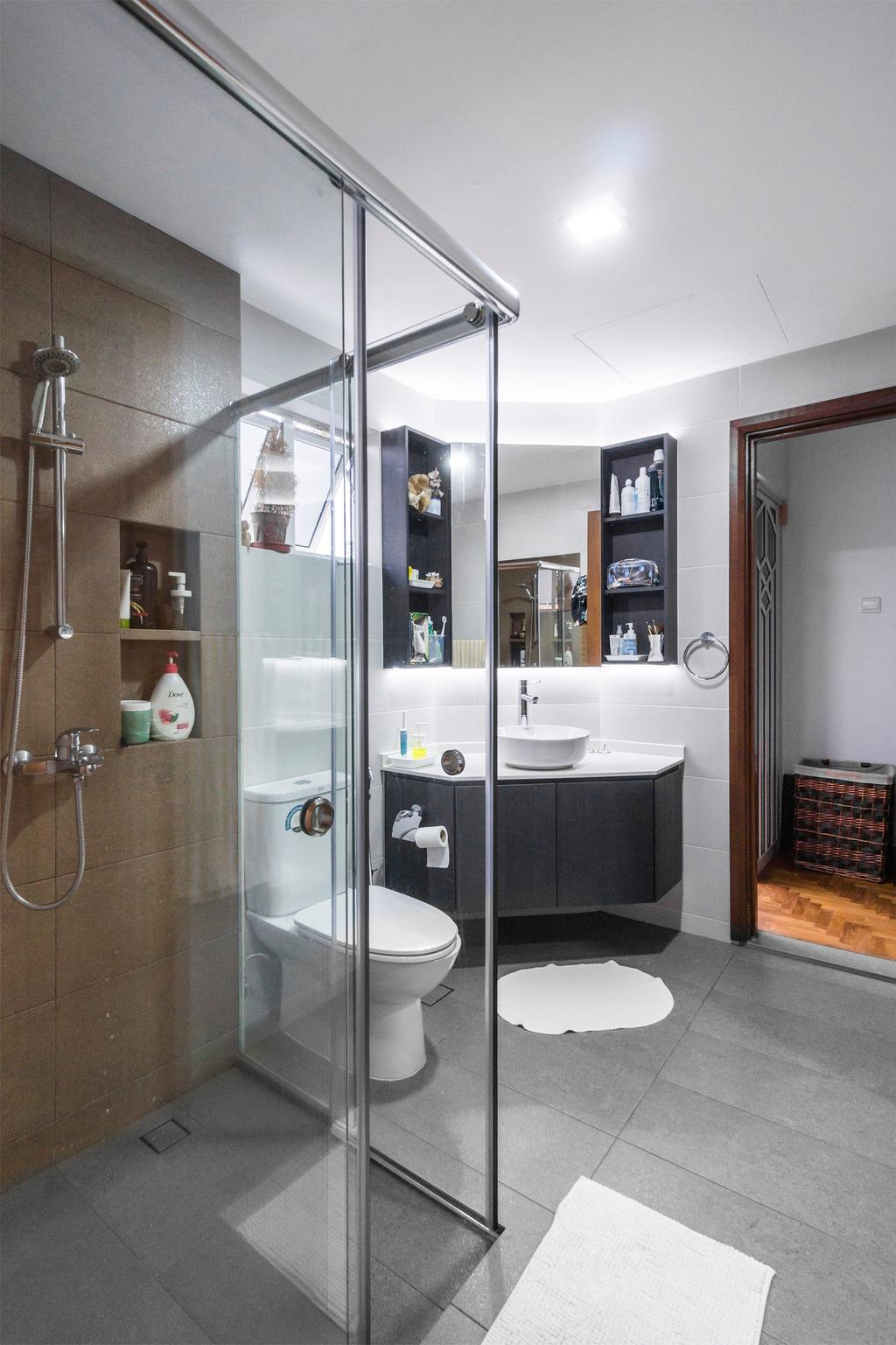 Contemporary, Landed, Bathroom, Kew Avenue, Interior Designer, Flo Design