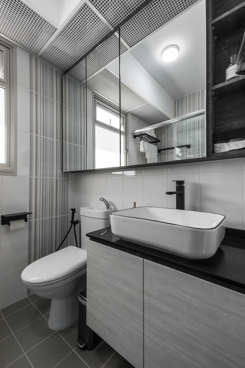 Contemporary, HDB, Bathroom, Sumang Walk, Interior Designer, Flo Design
