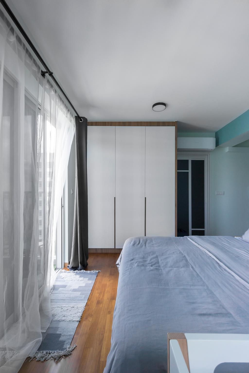 Contemporary, HDB, Bedroom, Sumang Walk, Interior Designer, Flo Design