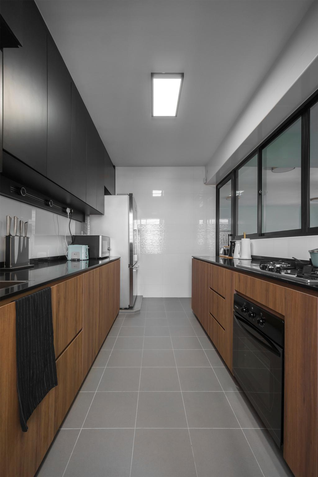Contemporary, HDB, Kitchen, Sumang Walk, Interior Designer, Flo Design
