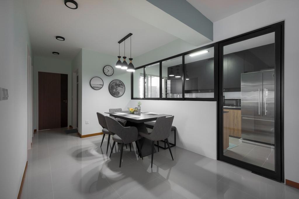 Contemporary, HDB, Dining Room, Sumang Walk, Interior Designer, Flo Design