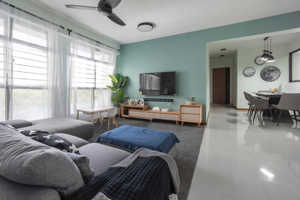 Contemporary, HDB, Living Room, Sumang Walk, Interior Designer, Flo Design