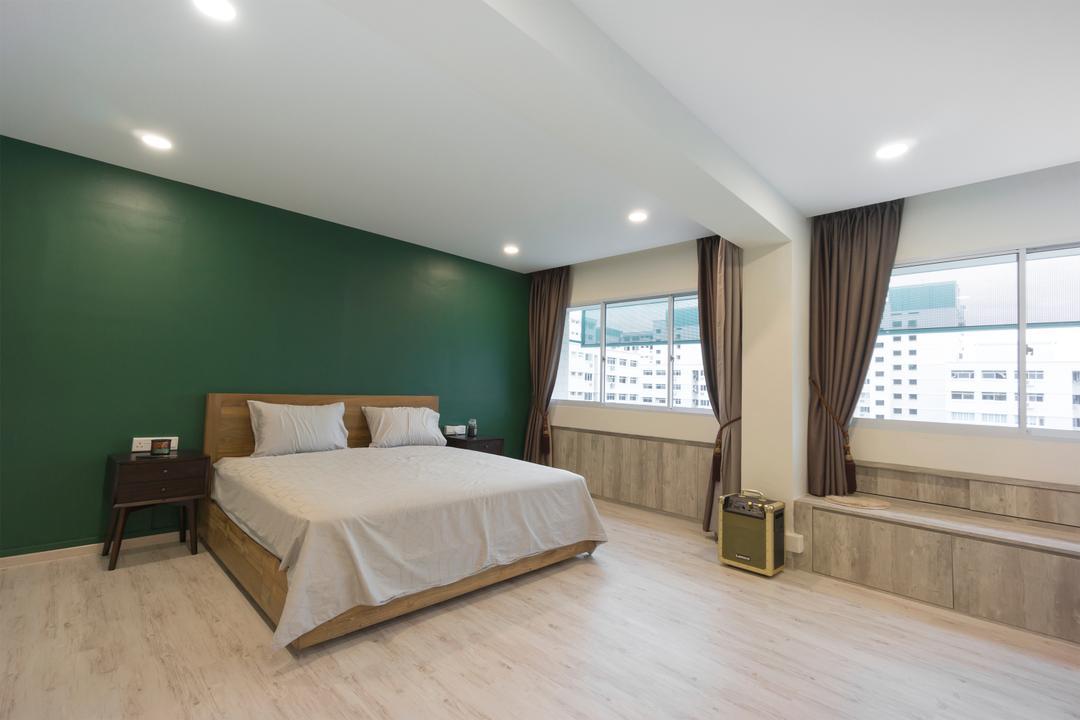 Pasir Ris Street 71, Flo Design, Contemporary, Bedroom, HDB, Window Seat, Window Storage, Window Bench
