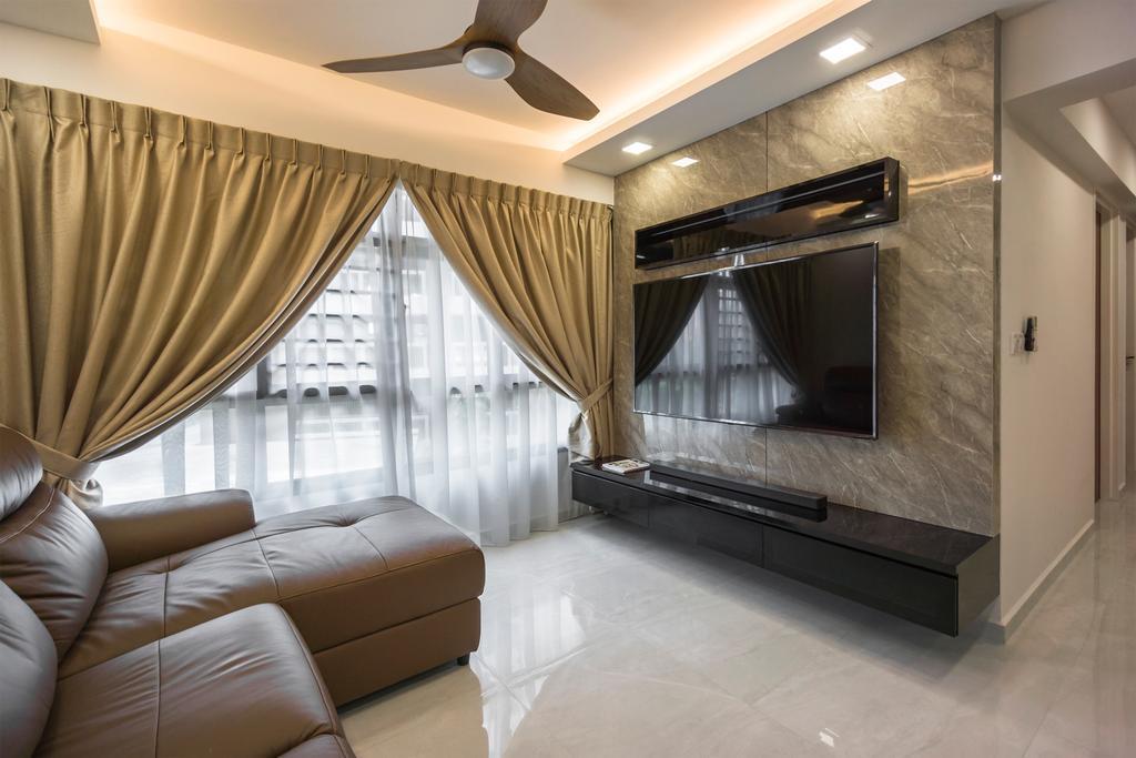 Contemporary, HDB, Living Room, Buangkok Crescent, Interior Designer, Flo Design