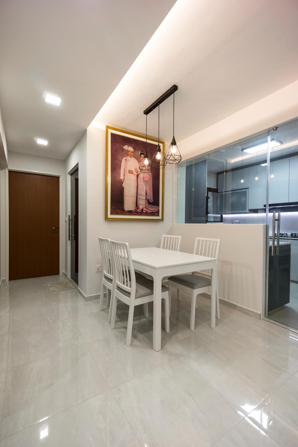 Contemporary, HDB, Dining Room, Buangkok Crescent, Interior Designer, Flo Design