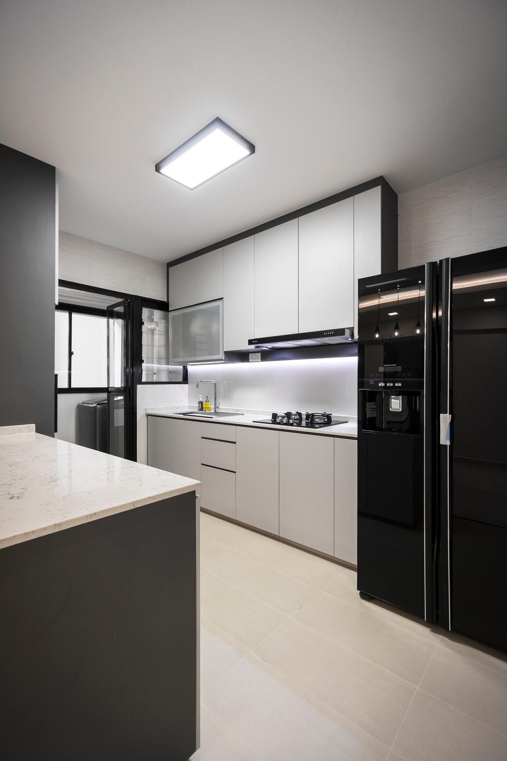 Contemporary, HDB, Kitchen, Buangkok Crescent, Interior Designer, Flo Design