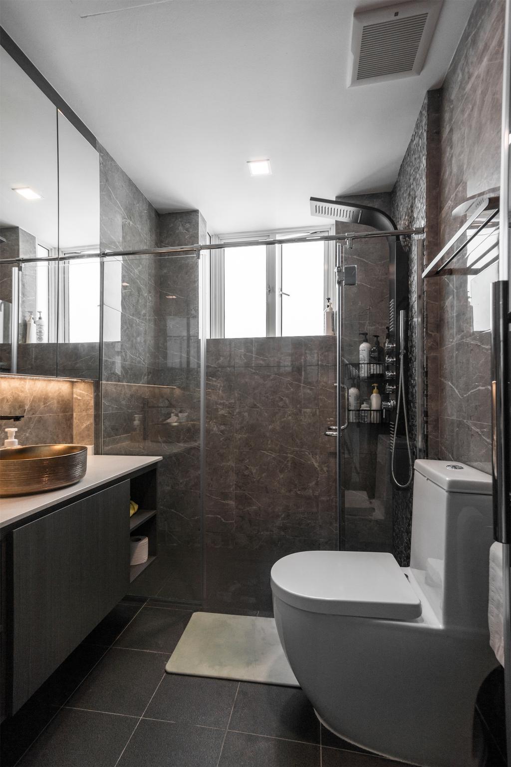 Contemporary, Landed, Bathroom, D'Saville, Interior Designer, Flo Design