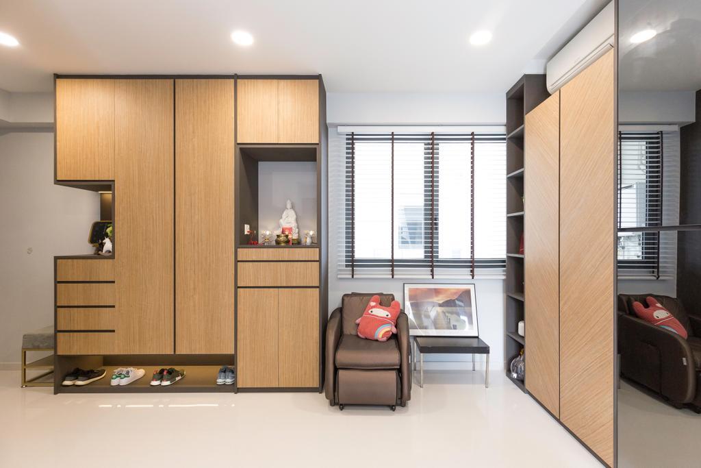 Contemporary, Condo, Living Room, Northpark Residences, Interior Designer, Charlotte's Carpentry