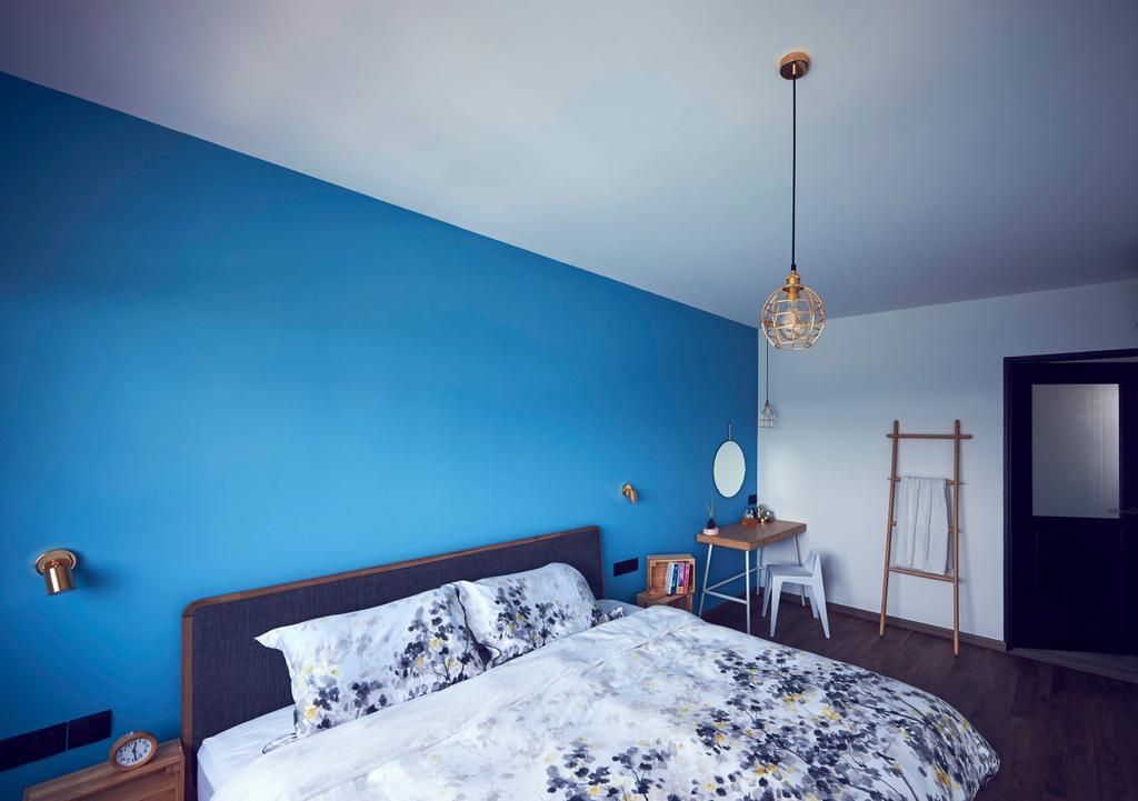 Vintage, HDB, Bedroom, Tampines GreenEdge, Interior Designer, Versaform, Industrial