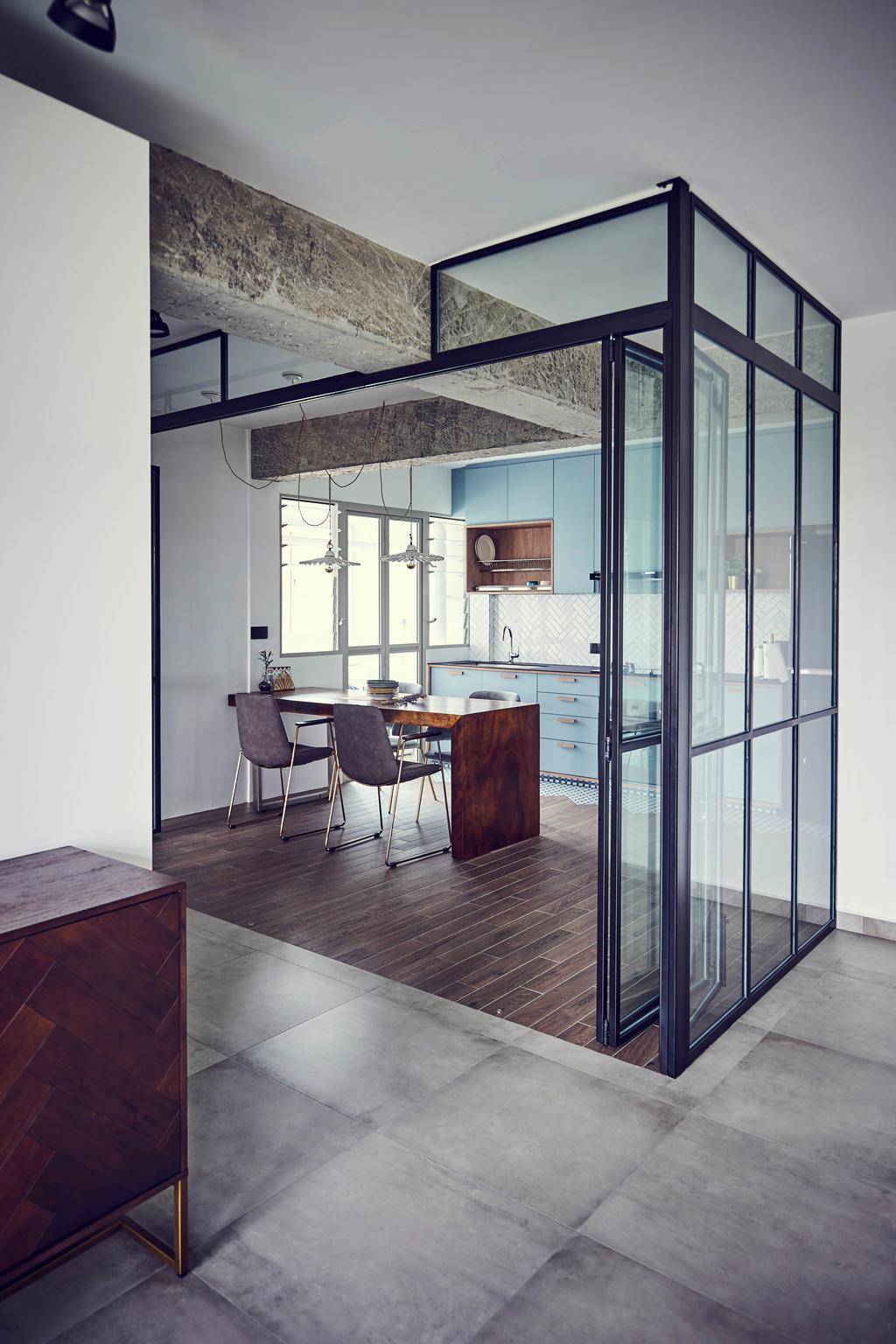 Vintage, HDB, Kitchen, Tampines GreenEdge, Interior Designer, Versaform, Industrial