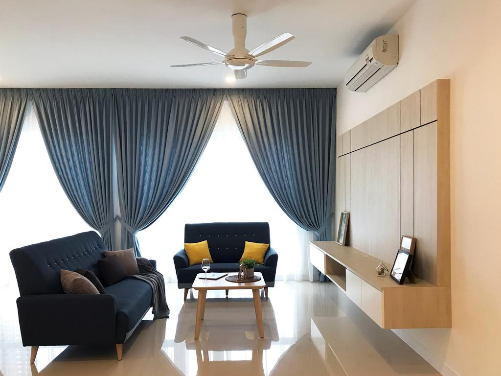 Scandinavian, Condo, Living Room, Pavilion Hilltop, Mont Kiara, Interior Designer, Lebeau Interior