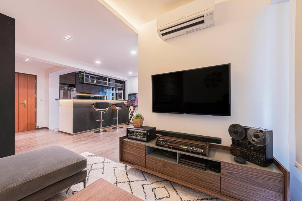 Contemporary, HDB, Living Room, Ghim Moh Link, Interior Designer, Swiss Interior Design