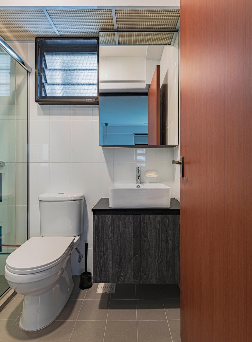 Contemporary, HDB, Bathroom, Ghim Moh Link, Interior Designer, Swiss Interior Design
