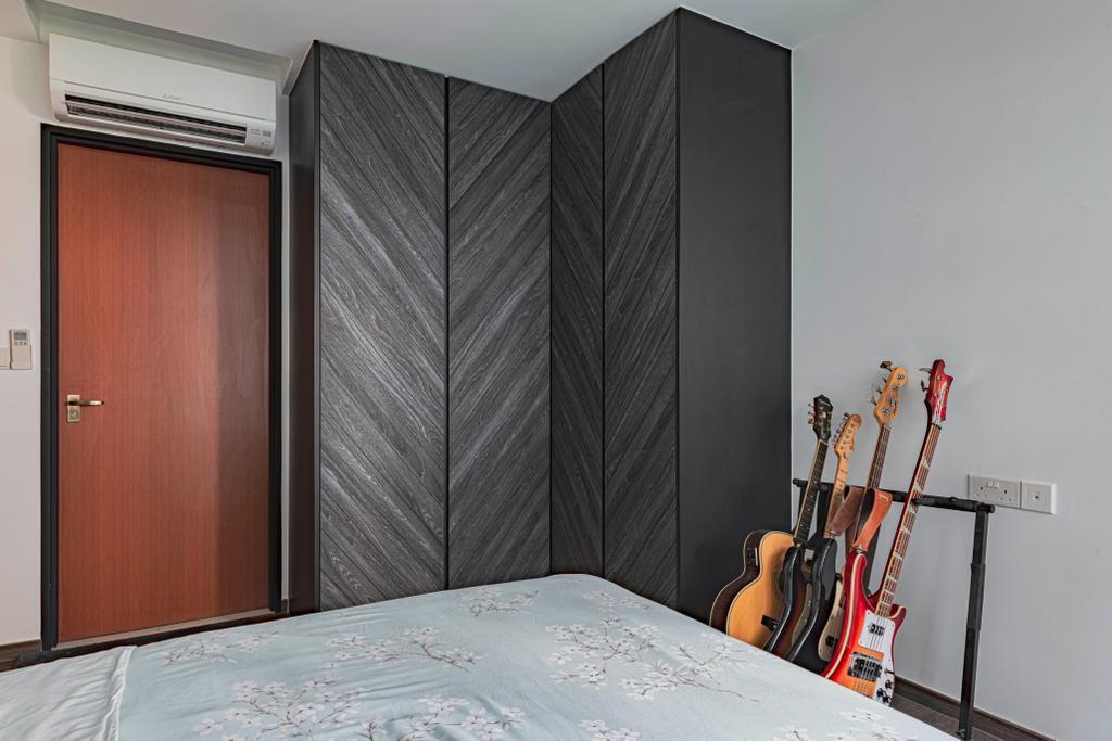 Contemporary, HDB, Bedroom, Ghim Moh Link, Interior Designer, Swiss Interior Design
