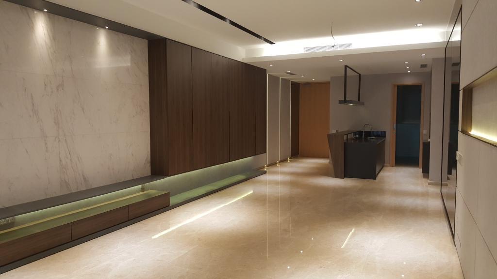 Minimalistic, Condo, Living Room, DC Residence, Damansara City, Interior Designer, Qube Design & Creater
