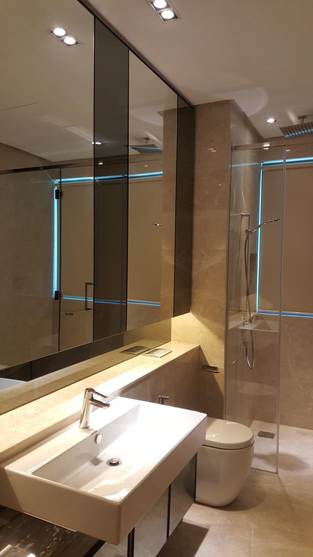 Minimalistic, Condo, Bathroom, DC Residence, Damansara City, Interior Designer, Qube Design & Creater