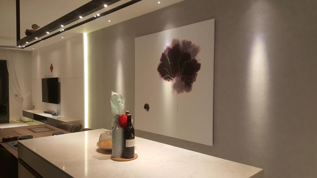 Contemporary, Condo, Living Room, Selayang 18 Residence, Bandar Baru Selayang, Interior Designer, Qube Design & Creater
