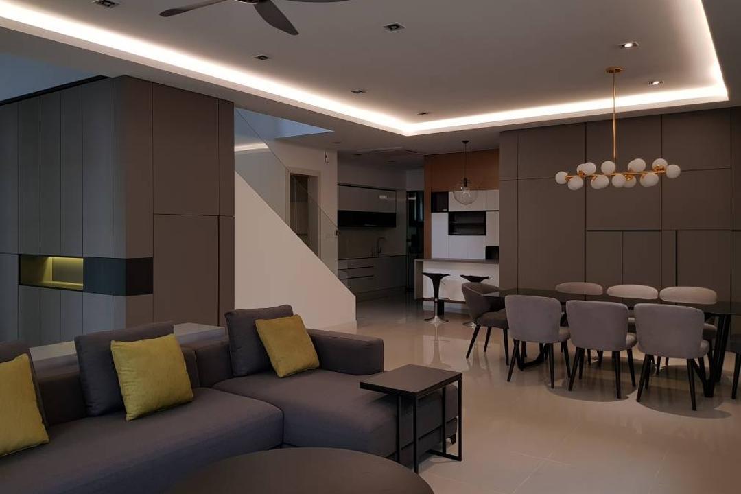 Semi-D, Damansara Heights Living Room Interior Design 6