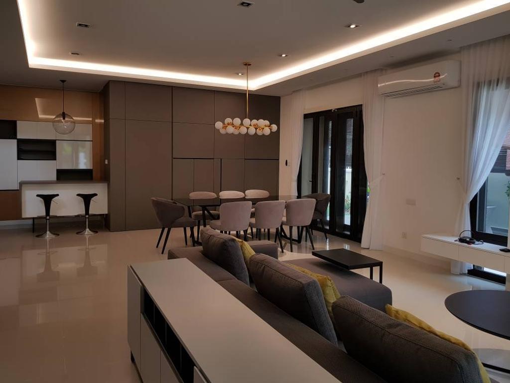 Minimalistic, Landed, Dining Room, Semi-D, Damansara Heights, Interior Designer, Qube Design & Creater