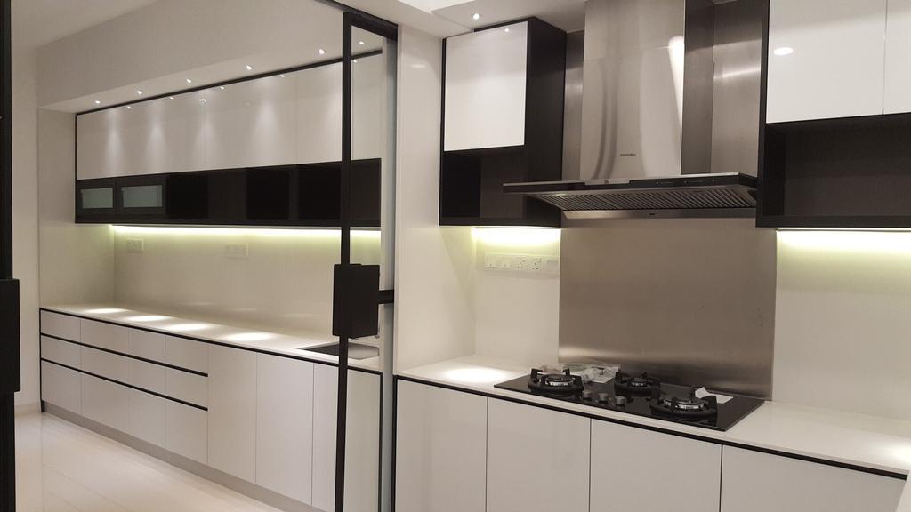 Minimalistic, Landed, Kitchen, Semi-D, Damansara Heights, Interior Designer, Qube Design & Creater