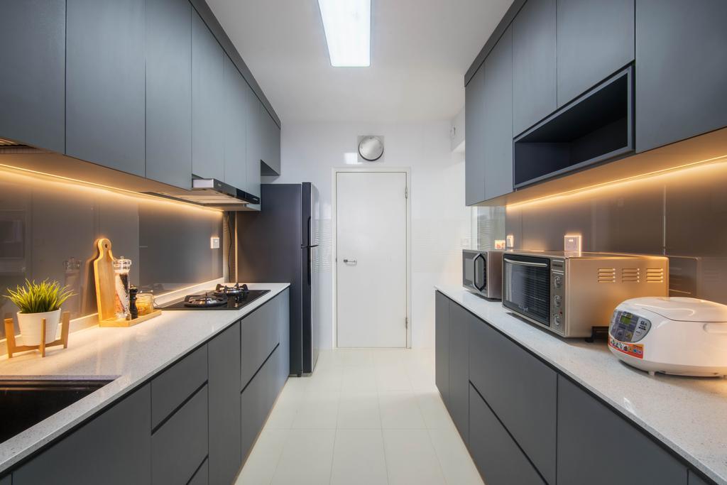 Contemporary, HDB, Kitchen, Bukit Batok West Avenue 5, Interior Designer, INCLOVER DESIGN