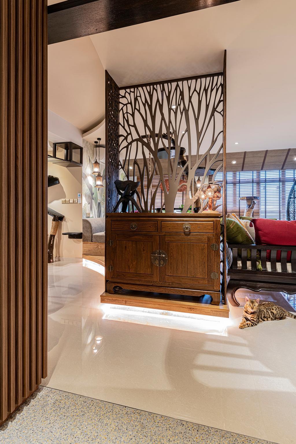 Contemporary, HDB, Living Room, Buangkok Crescent, Interior Designer, Free Space Intent
