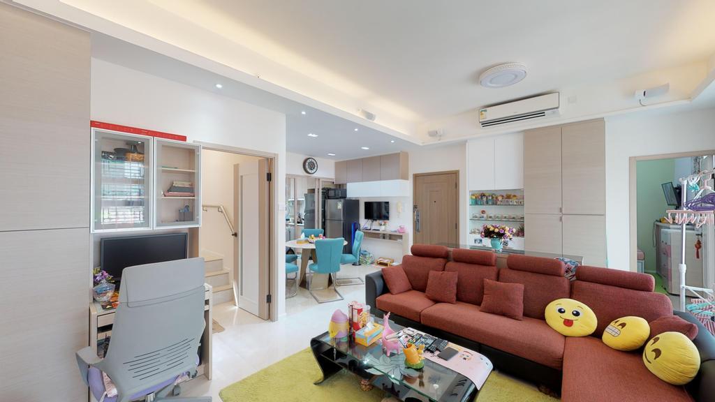 當代, 私家樓, 客廳, 樂意居, 室內設計師, 和生設計