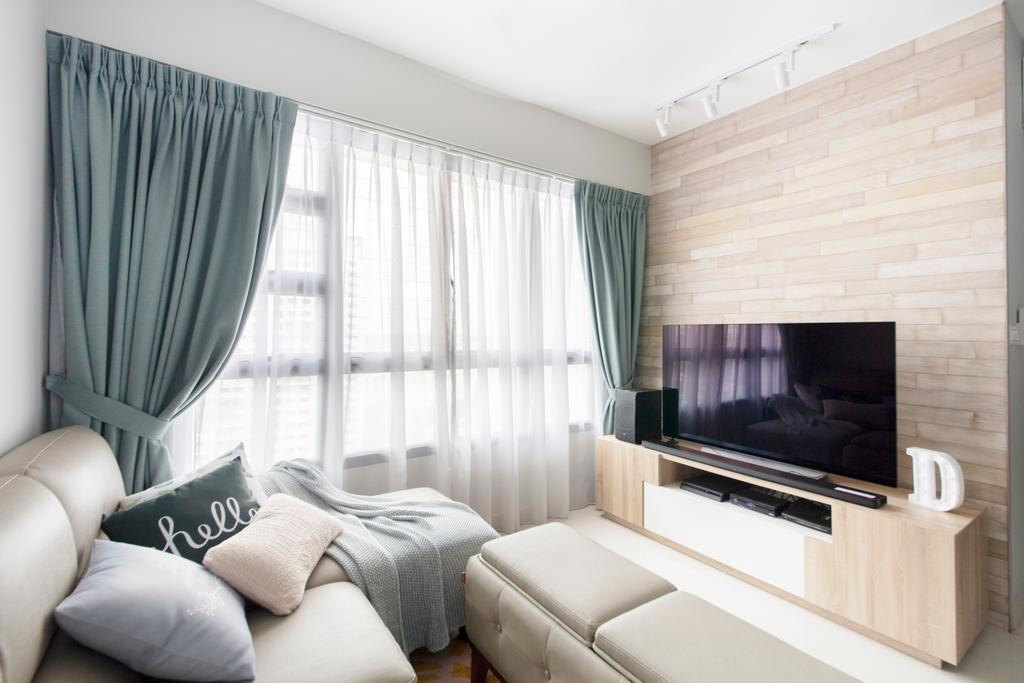 Minimalistic, HDB, Living Room, Ghim Moh Edge, Interior Designer, The Safe Haven Interiors