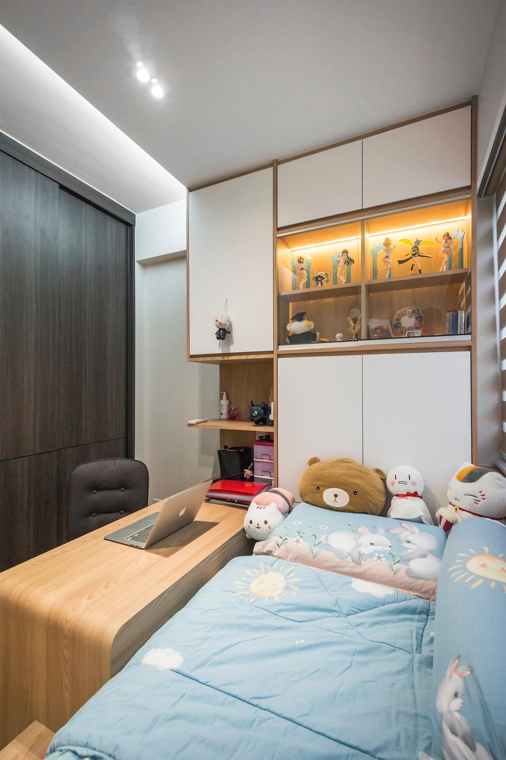 Contemporary, Condo, Bedroom, Northpark Residences, Interior Designer, Flo Design