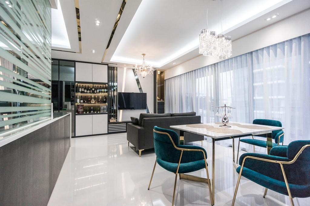 Contemporary, Condo, Living Room, Northpark Residences, Interior Designer, Flo Design