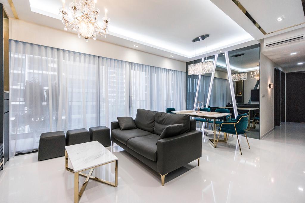 Contemporary, Condo, Living Room, Northpark Residences, Interior Designer, Flo Design